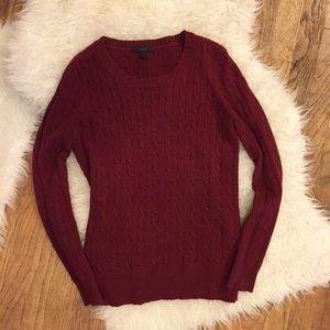 J Crew Cableknit Sweater